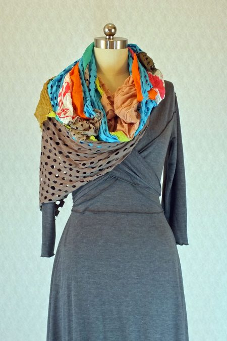 Color Combination Scarf Bust
